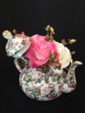 Antique Tea Pot with Roses